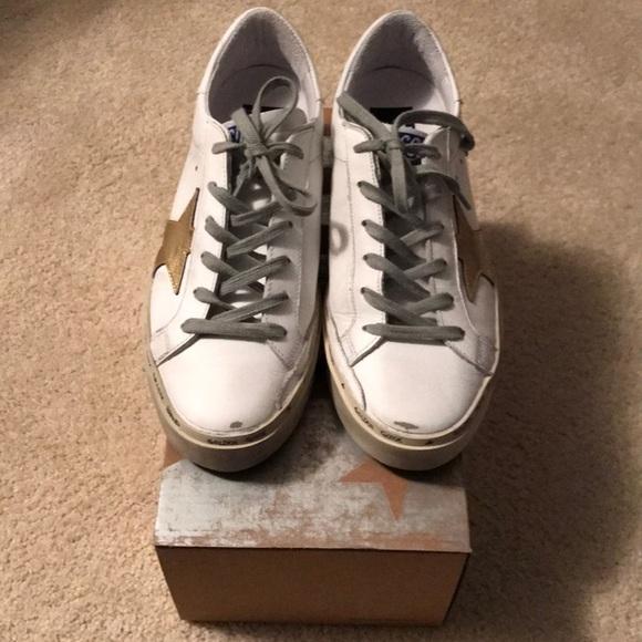 7a3abf948a3f Golden Goose Shoes - Golden Goose Hi Star Leather Platform Sneakers